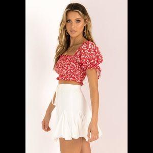 Sundae Muse white Bermuda skirt size AU 6, US xs/s
